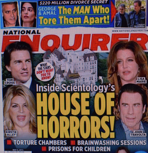 "Titelseite der ""National Enquirer"""