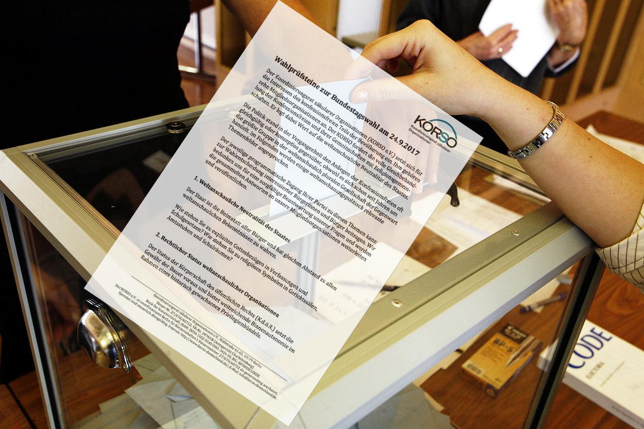 KORSO verschickt Wahlprüfsteine   hpd