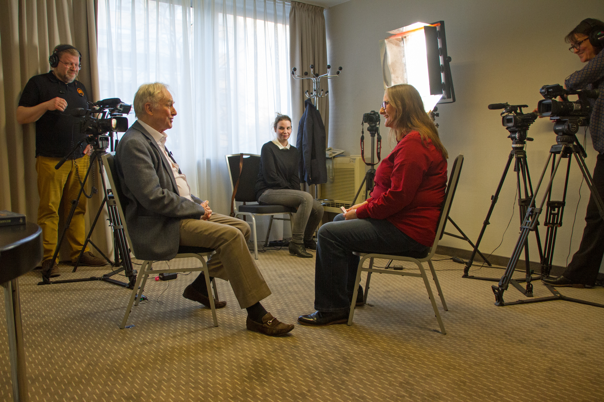 Richard Dawkins im hpd-Interview, Foto: © Frank Nicolai