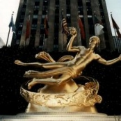 Paul Manships Prometheus (Skulptur vor dem Rockefeller Center, New York)