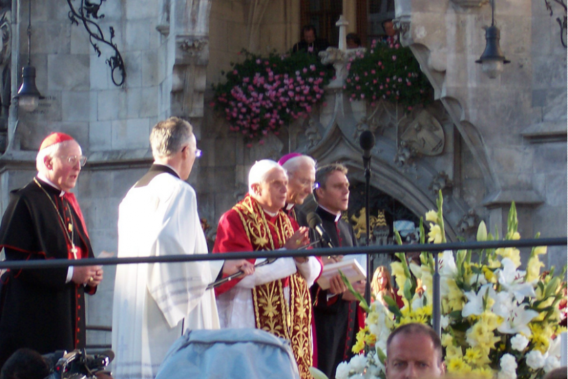 Joseph Ratzinger als Papst Benedikt XVI.