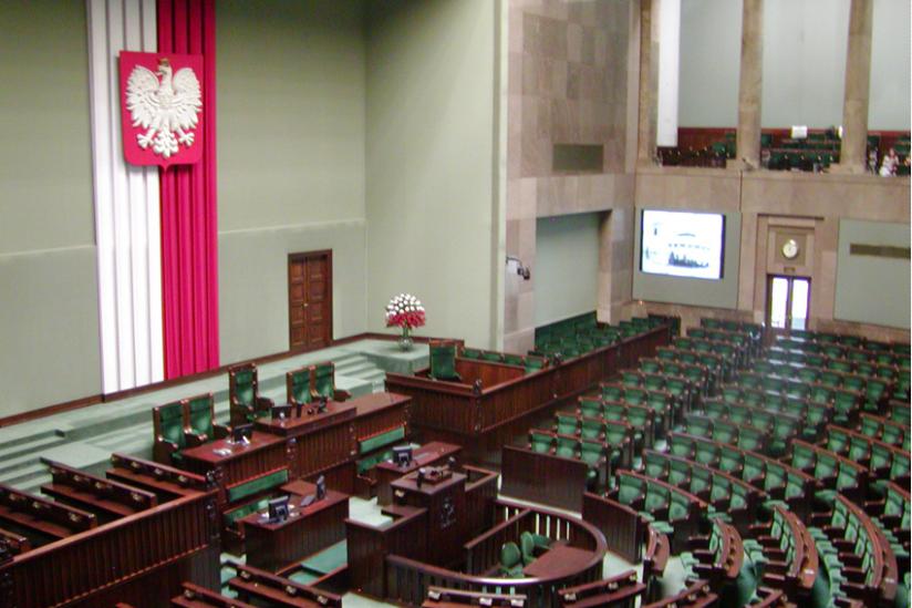 Plenarsaal des Sejm in Warschau