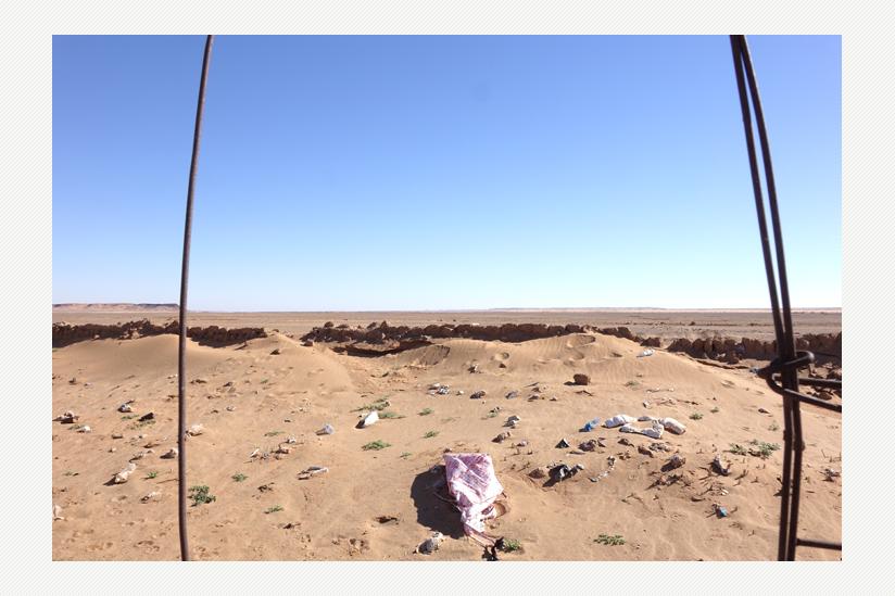 Flüchtlingslager in der algerischen Provinz Tindouf -  am Horizont beginnt Westsahara