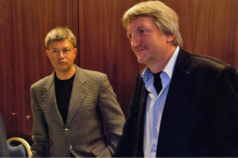 Helmut Fink (Moderator) und Heinz-Werner Kubitza