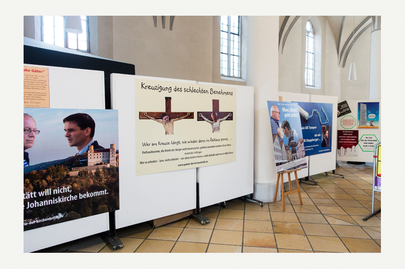 Die juristisch erstrittene Ausstellung in der säkularisierten Johanniskirche
