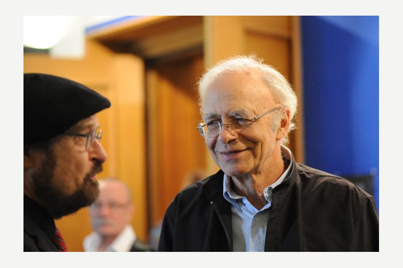 Peter Singer im Gespräch mit Stefan Bernhard Eck
