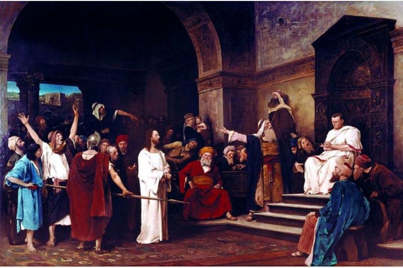 Christus vor Pilatus, Gemälde von Mihály von Munkácsy, 1881