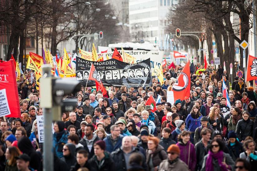 Demonstration gegen Rechtsextremismus und zur Erinnerung an die NSU-Opfer