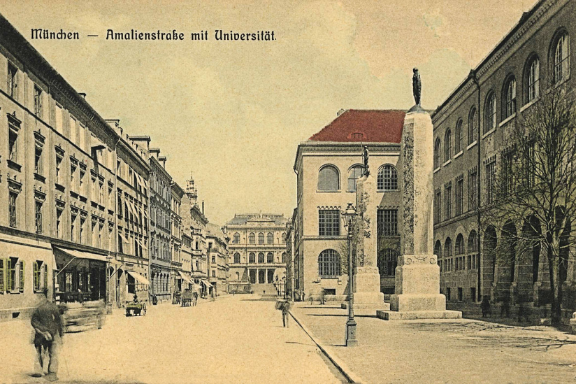 Die Ludwig-Maximilians-Universität (LMU) München um 1900