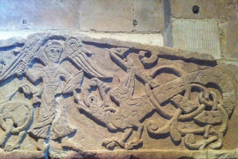 Der Erzengel Michael im Kampf mit dem Drachen