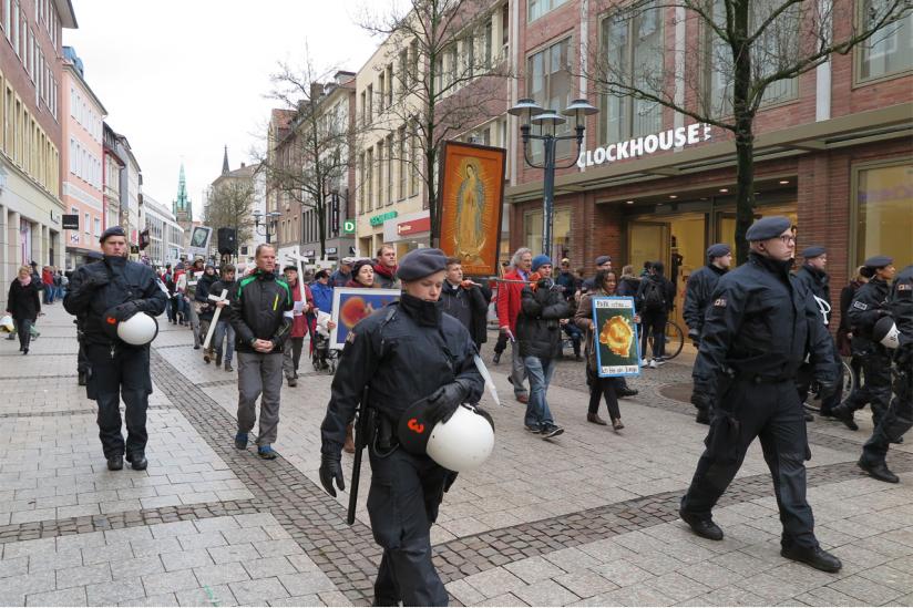 1000 Kreuze Marsch Münster 2017