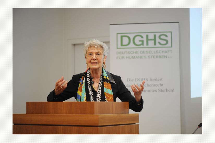 Elke Bazner, Präsidentin der einladenden DGHS