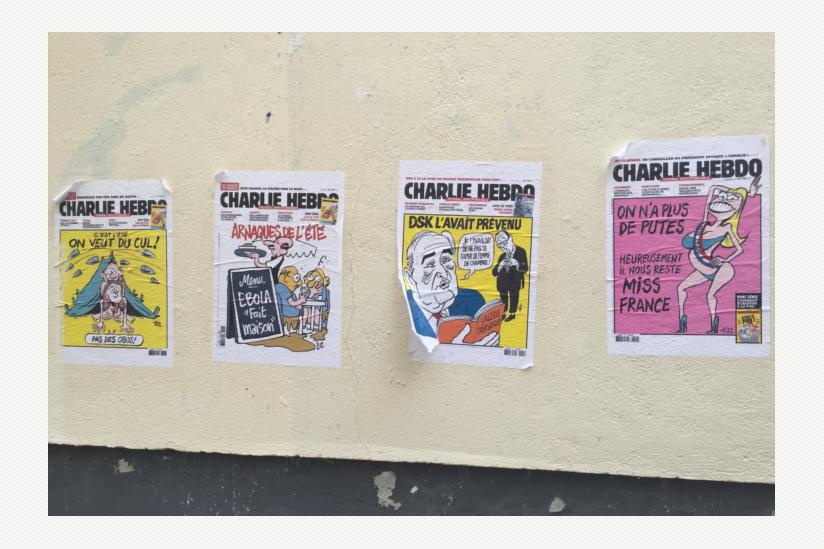 Charlie Hebdo Titelseiten