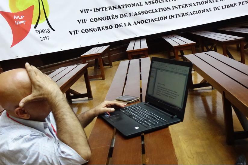 Konferenzteilnehmer im Engagement der Themen und Sprachen. Hier: Georges Saad (Libanon)
