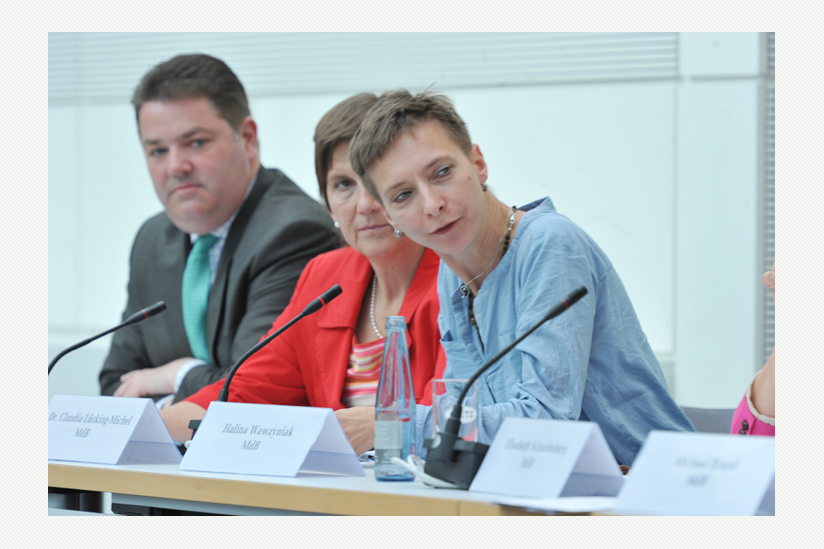 von links: Ansgar Hevelin, CDU/CSU, Dr. Claudia Lücking-Michel, CDU/CSU, Halina Wawzyniak, Die LINKE