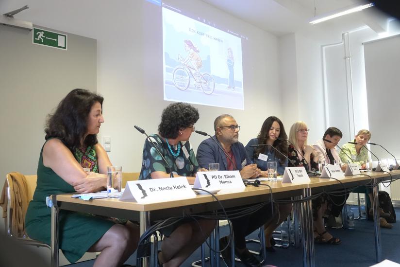 Bei der Pressekonferenz am 23.08.2018 in Berlin