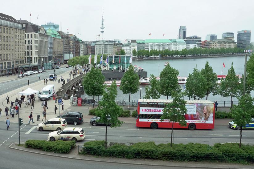 Der Bus in Hamburg