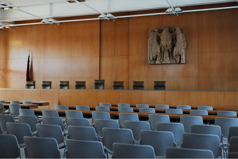 Saal im Bundesverfassungsgericht.