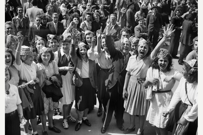 historisch: der 8. Mai 1945 in Paris