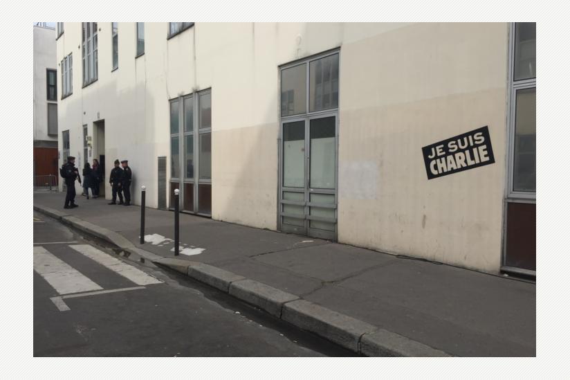 Ehemaliges Redaktionsgebäude von Charlie Hebdo