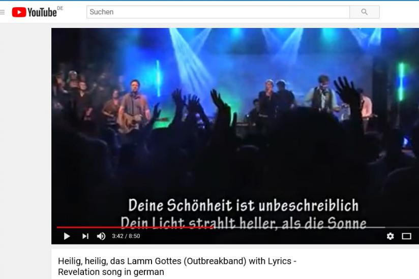 Lob und Anbetung Lieder Youtube mit Texten