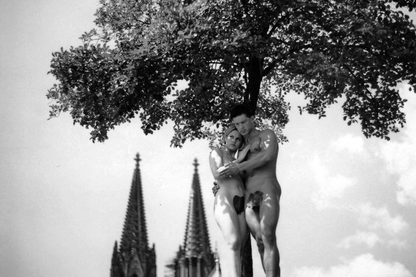 """""""Adam und Eva"""" am Kölner Dom"""