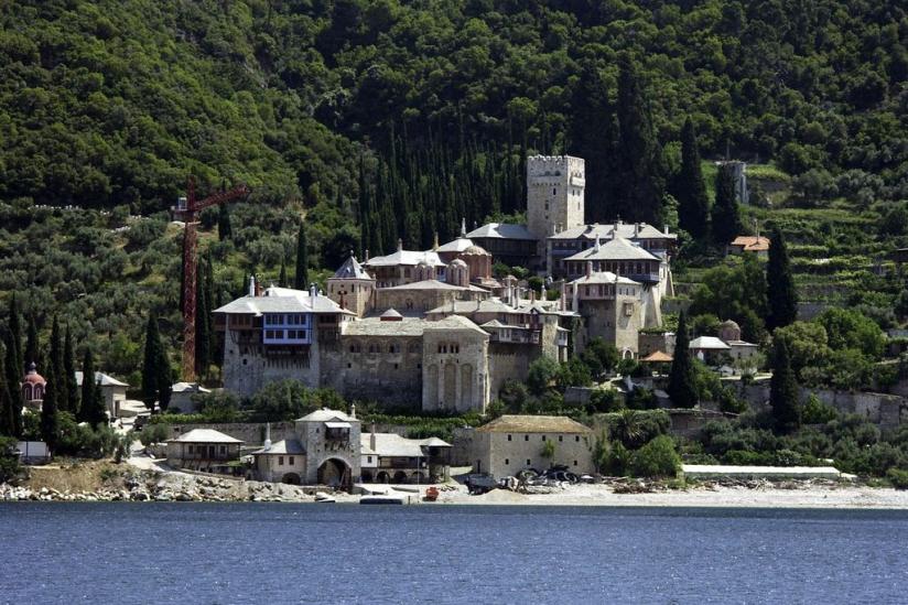 Die Abtei Esphigmenou auf dem Berg Athos