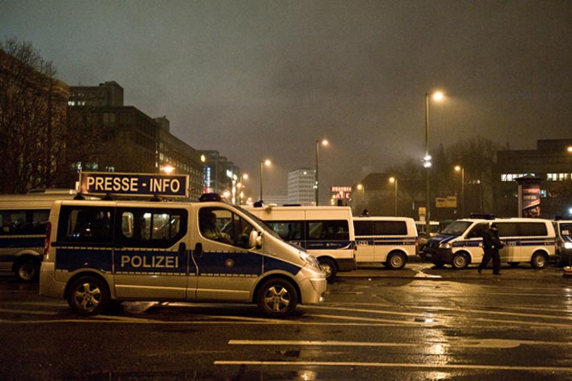 Starke Polizeipräsenz in Berlin