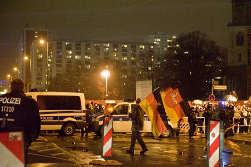 Gegendemo in Berlin