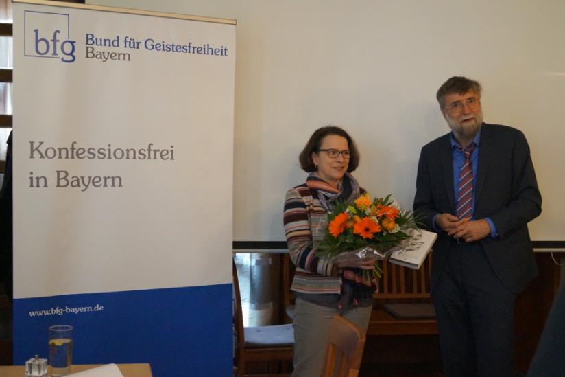 Bürgermeisterin Gertrud Maltz-Schwarzfischer, Vorsitzender Erwin Schmid