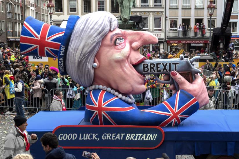 Der Brexit-Wagen von Jacques Tilly