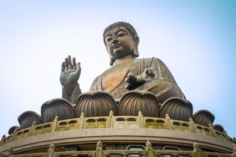 Buddha-Figur in Hong Kong