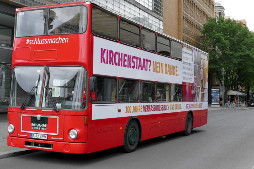 Über Nebenstraßen durfte der Bus dann doch noch zum (nicht auf den) Potsdamer Platz fahren.