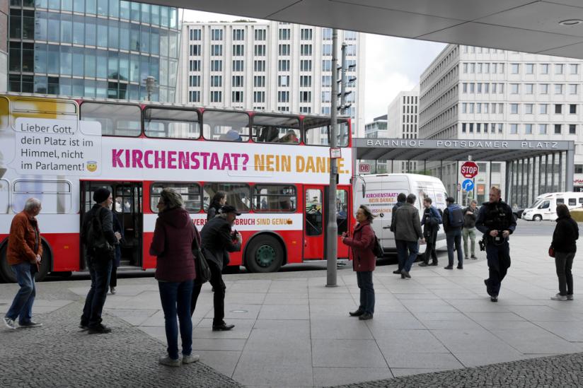 Und dann stand er endlich am Potsdamer Platz.