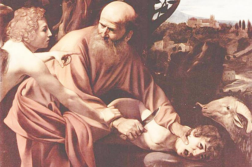 """Caravaggios """"Sacrificio di Isacco"""" von 1603"""