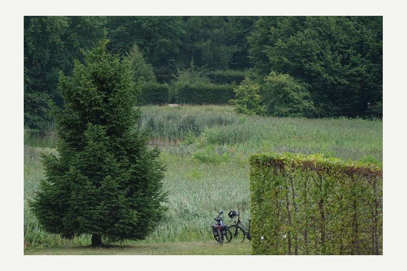 Gartenanlage - mit Heckentheater