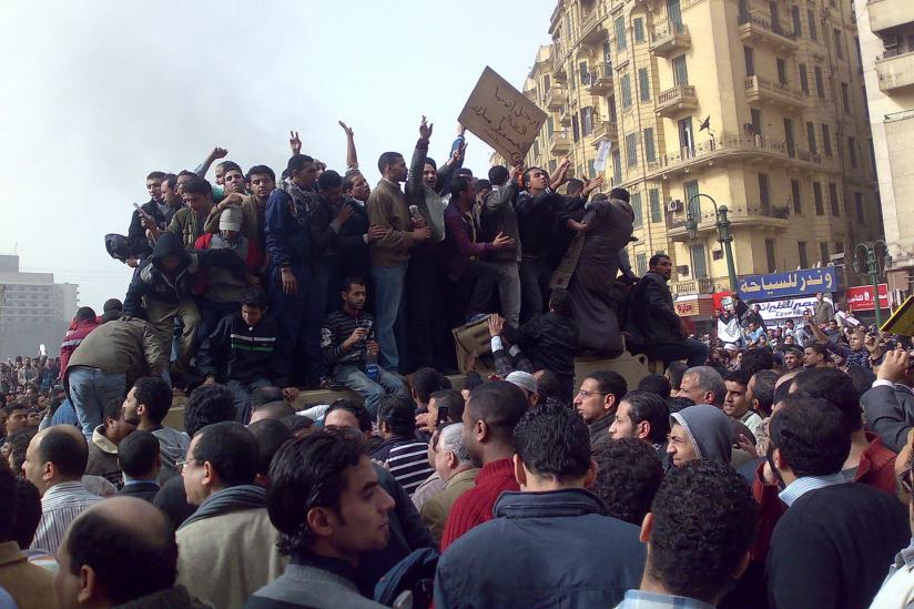 Demonstranten in der Innenstadt von Kairo