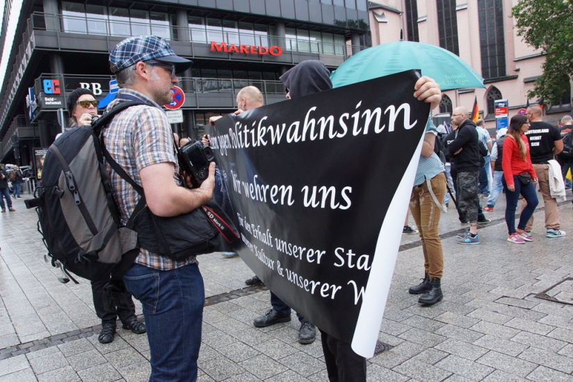 Der rechte Mob marschierte auch in Köln