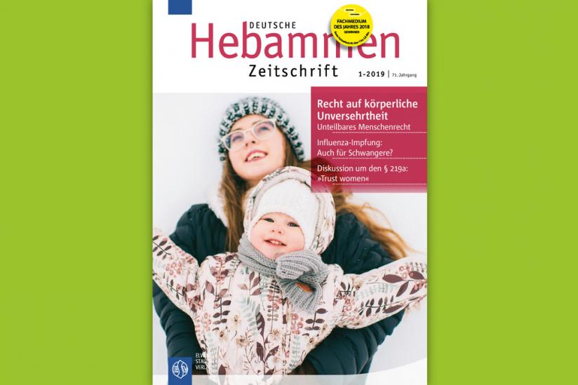 Januarausgabe der Deutschen Hebammenzeitschrift