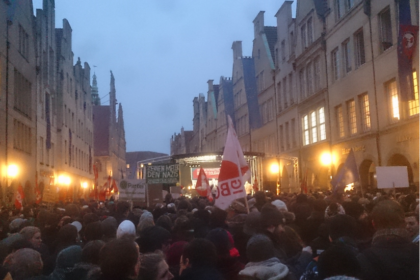 Anti-AfD-Demo Münster