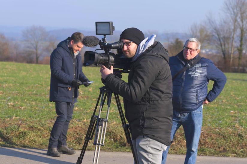 Ein Team des Rhein-Neckar-Fernsehens war auch vor Ort