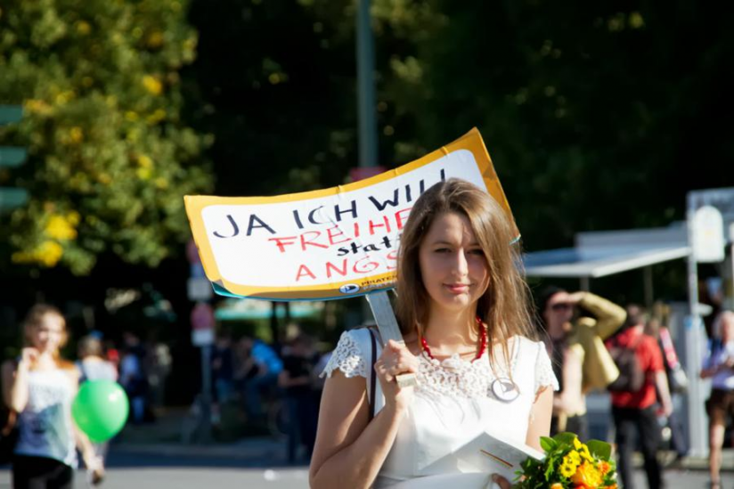 """K. Nocurn bei der """"Freiheit statt Angst"""" 2013"""