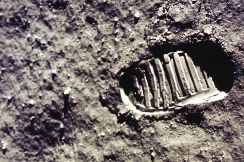 Mondlandung FuГџabdruck