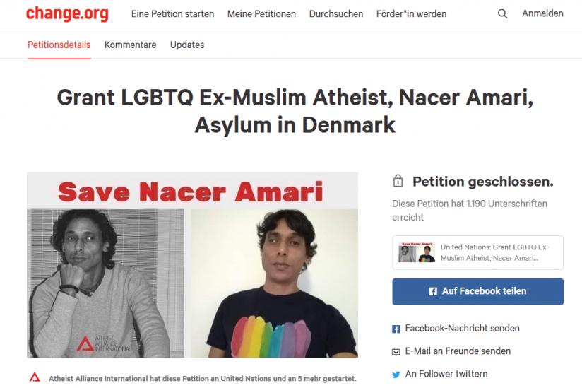 Screenshot einer mittlerweile gelöschten Petiton