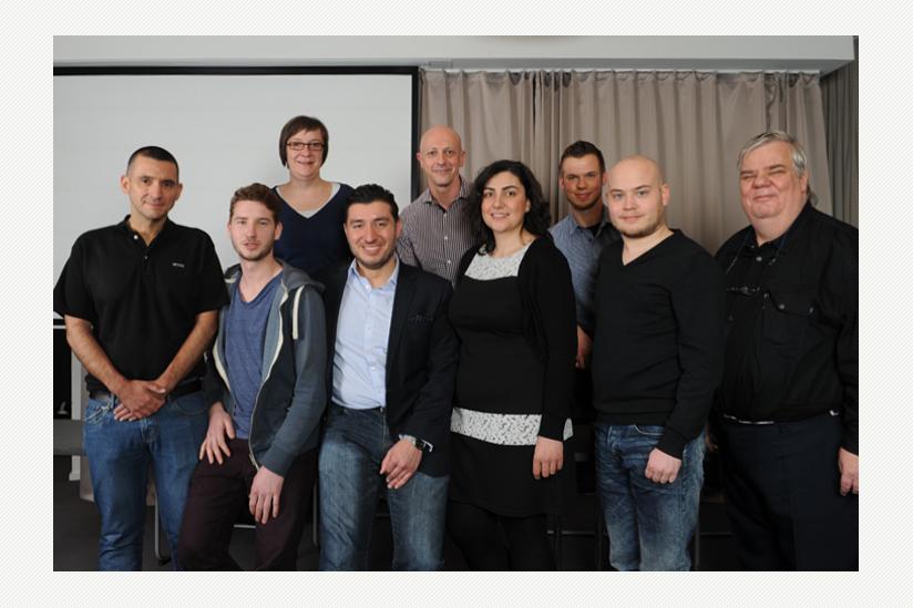 Martin Ißleib, David Helmus,  Sandra Pacholke, Beka Kobaidze, Franz Eiber, Ioana Hauke, Felix Bölter, Stefan Schmitz, Helmut Jüterbock