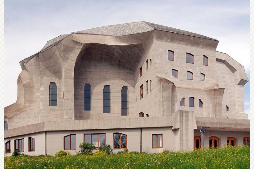 Das zweite Goetheanum in Dornach (1928 bis heute), Südansicht