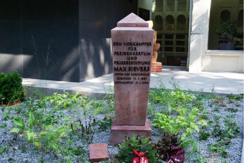 Gedenkstein für Max Sievers