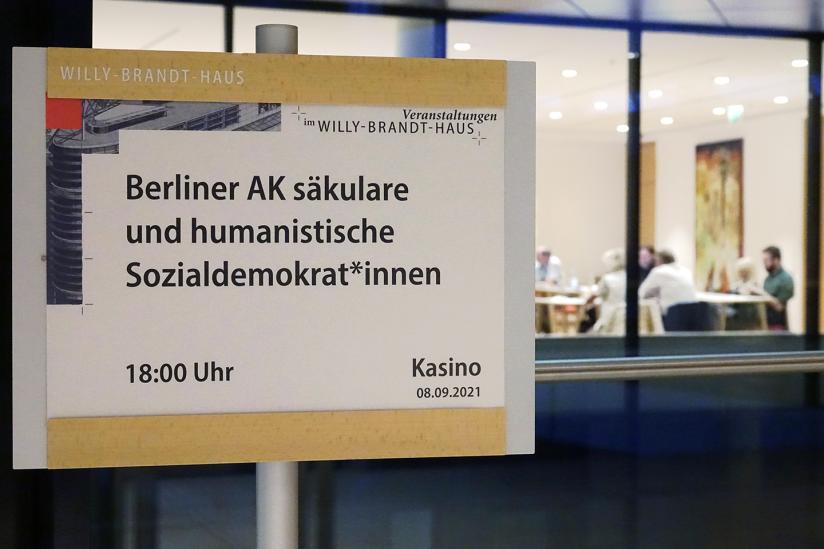 Hinweis auf die Gründungsveranstaltung im Willy-Brandt-Haus