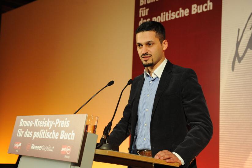 Farid Hafez bei der Verleihung des Bruno-Kreisky-Anerkennungspreises 2010