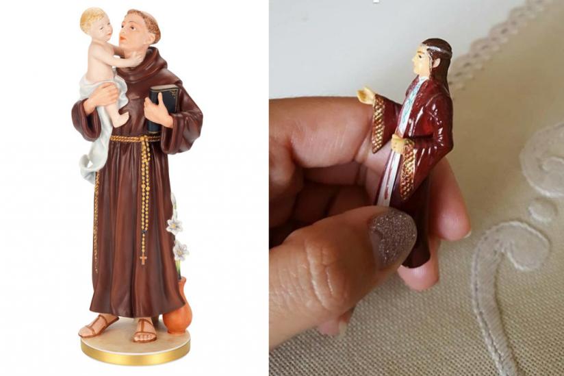 """Heiliger Antonius"" (links) und ""Heiliger Elrond"" (rechts)"